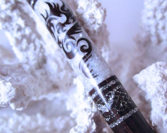 """FNS - The Petite """"Princess Eve"""" Dragon Stick Featuring African Blackwood Inlaid with Mother of Pearl and Silver Extreme Pearl Essence"""