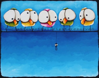 Whimsical birds - Hanging about