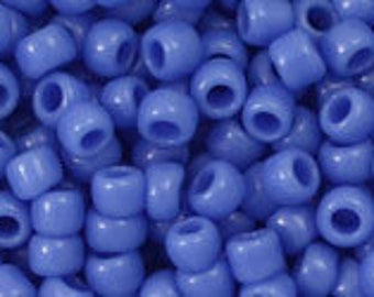 Bulk Toho Round Seed Beads, Size 8, Color Number 48L Periwinkle, Factory 250 gram Factory Pack, Opaque Periwinkle