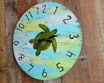 Sea turtle clock Etsy
