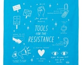 Tools for the Resistance Screen Printed Cotton Bandana