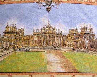 Vintage Blenheim Palace Tea Towel, U.K. Souvenir Tea Towel, Linen and Cotton, Large Tea Towel, by mailordervintage on etsy