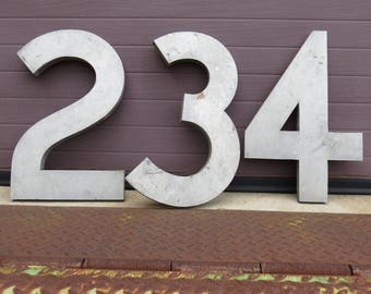 18 Inch Industrial Salvage Large Numeral Vintage Large Metal Number Steampunk Decor
