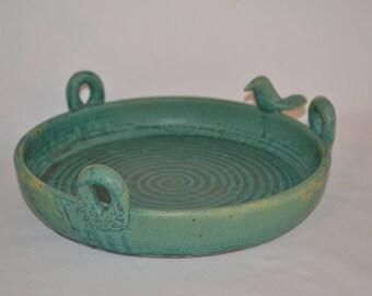 Stoneware Birdbath
