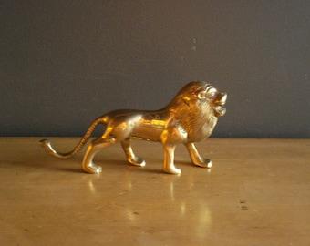 Rawrrrrr - Vintage Brass Lion Figurine