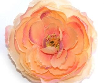 Peachy Pink Ranunculus - Silk Flowers, Artificial Flowers