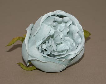 Blue Gray Cabbage Rose -  Artificial Flowers, Silk Flowers