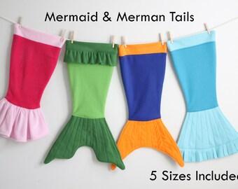 Child's MERMAID TAILS Blanket Sewing Pattern Merman Cocoon PDF #304