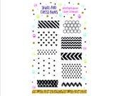 Planner Stamps - Washi Patterns Rubber Stamp Set - Clear Stamps - Bullet Journal - Photopolymer Acrylic Stamp -  Background  - Chevron Star