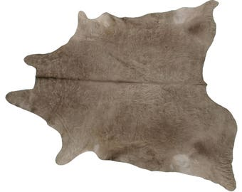 Argentinian Cowhide Fur Rug - Large Shaggy Natural Champagne Gray - Real Cowhide 6' + - NEW
