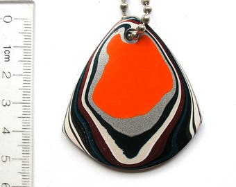 DVH Genuine Fordite Focal Bead 54x49x4 (8821)