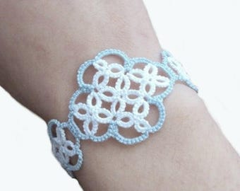 Nautical Blue, White Bracelet - Katarina - Custom Fit
