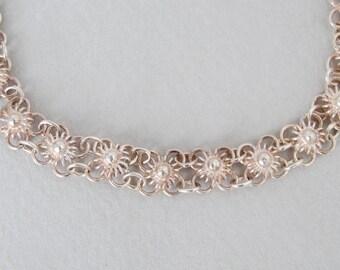 Vintage Dainty Sterling Link Bracelet