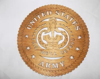 US ARMY Drill SERGEANT Scroll Saw Plaque