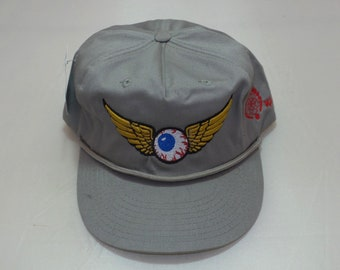 Snapback Bent-Brim Hat - Flying Eyeball (One-of-a-kind)