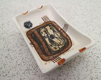 1960s vintage studio anna australian pottery ash tray