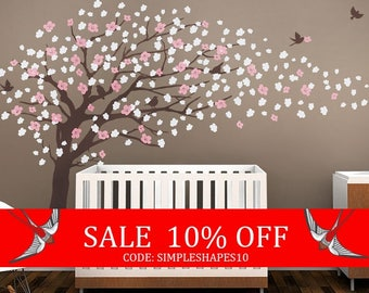 Summer Sale - Tree Wall Decals - Cherry Blossom Tree Decal - Elegant Style - LARGE