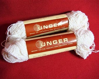 2 Unger Italian Cotton Yarn White Unger Nubby Italian Cotton Yarn