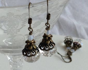 Rustic Crystal Bridal Earrings