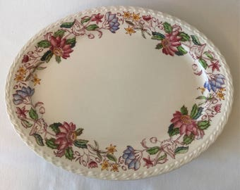 Vintage Vernon Kilns Oval Platter~Delores