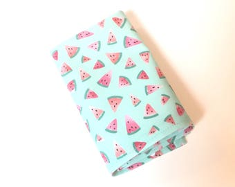 Watermelon Pocket Square watermelon handkerchief Mens Pocket Square men's handkerchief In Stock groom groomsmen gift mint green coral pink
