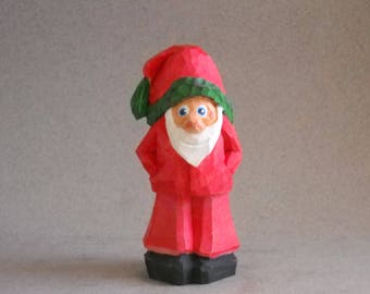 Little Santa wood carving