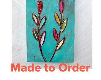Made to Order mixed media original painting 4x6