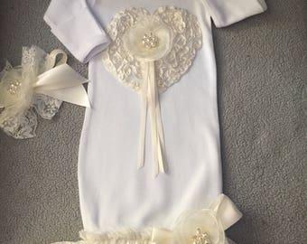 Newborn Baby Girl Take Home Newborn Baby Layette Newborn Baby Girl Gown