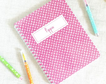 Personalized Kids Spiral Notebook | Whimsy Pattern | Mini Notebook | Spiral Bound Blank Book | School Supply | Gift for Girl Boy |