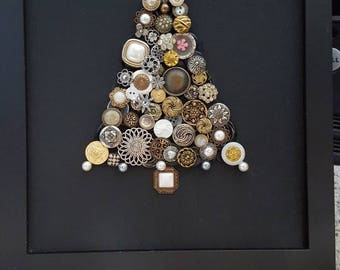 Christmas Tree Button Picture