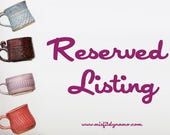 Reserved listing for Beth- Cult Cup Collection