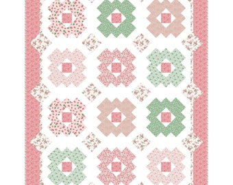 Daisy Patch Quilt Kit - KIT-MASDAP - It's Sew Emma Pattern - Berries and Blossoms Quilted Throw Kit