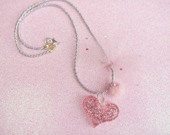 Valentines Day charm necklace.
