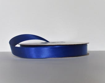 Royal Blue Double Faced 5/8 inch Satin Ribbon 5 yard length Offray Made in USA