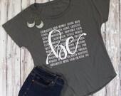 BE Shirt, Courageous, Kind, Grateful, Women's Tee, Women's shirt, All the Feels Tee, Hand Lettered Shirt, Cellar Designs T-shirt, Beautiful