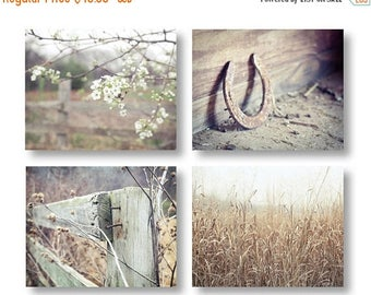 Farmhouse Decor, Country Decor, Rustic Home Decor, Set of 4 Rustic Prints, Rustic Country Landscape Prints, Farm Art Rustic Farmhouse Prints