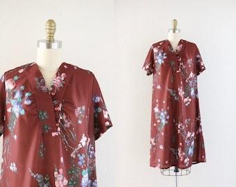 ON SALE 1970's sheer botanical dress