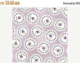 ON SALE SALE!  Flower Buds in a Cameo Design on Purple 100% Cotton Quilt Fabric Blender, Henry Glass 5853-55, Material by the Yard, Fabric o
