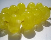 Mimosa Yellow Lampwork Spacer Beads, SRA, UK Seller, UK Lampwork