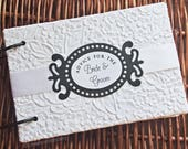 Letters to the Bride, Advice book with cards, White Blossom, reserved for Alyssa