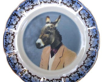 Jack Ass Portrait Plate 7.15""