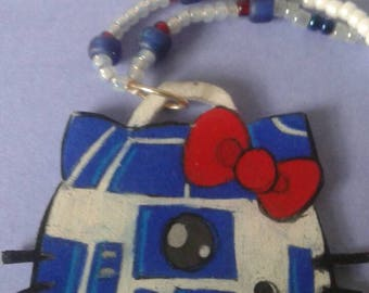 hello kitty r2d2 beaded necklace