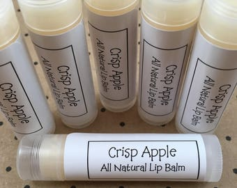 Apple Lip Balm All Natural Crisp Apple Flavored Lip Balm Made With Shea Butter, Beeswax, and Vitamin E | All Natural Lip Balm