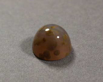 Polka Dot Agate Round Cabochon 12.5 mm