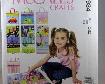 ON SALE McCall's 6934, Travel Toy Mats Sewing Pattern, Uncut