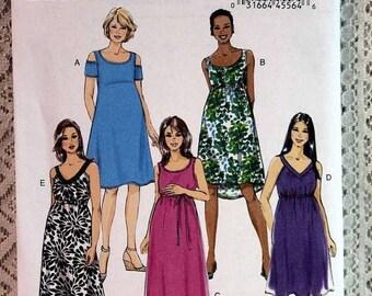 ON SALE Butterick 6068, Misses' Maternity Dress Sewing Pattern, Easy Maternity Dress Pattern, Misses' Patterns, Misses' Size 6, 8, 10, 12, 1