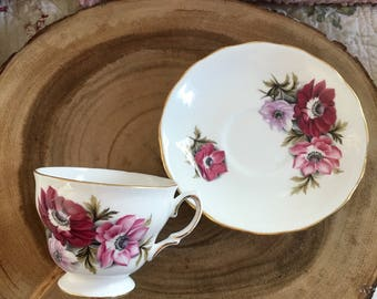 Vintage Royal Vale Tea Cup and Saucer