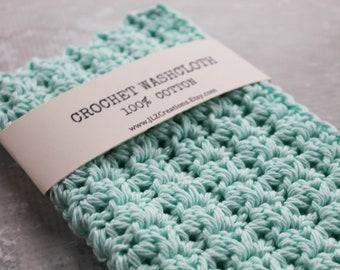 100% Cotton Crochet Wash Cloth, Crochet Cotton Dish Cloth, Crochet Dishcloth, Crochet Wash Cloth, Wash Rag, Spa, Beauty, Eco Friendly