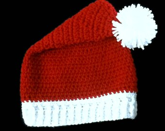 Santa Hat - Child Santa Hat - Christmas Hat - Christmas Photo Prop