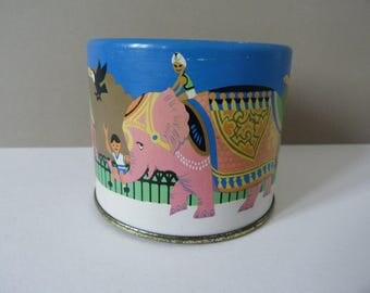 Vintage tin elephant money box coin bank